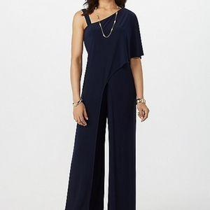 Roz and Ali Dark Blue Jumpsuit Size L - NWT